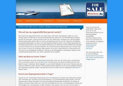 Kostenloser online Kaufvertrag Boot   Info